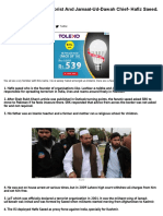9 Facts About the Terrorist and Jamaat-ud-dawah Chief- Hafiz Saeed