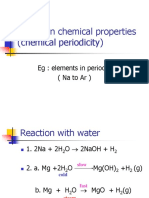 Trends in Chemical Properties