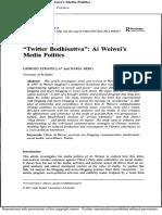 Ai Weiwei Media Politics