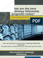 What Are the Best Radiology Fellowship Programs Today