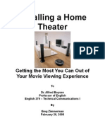Home Theater Instructions