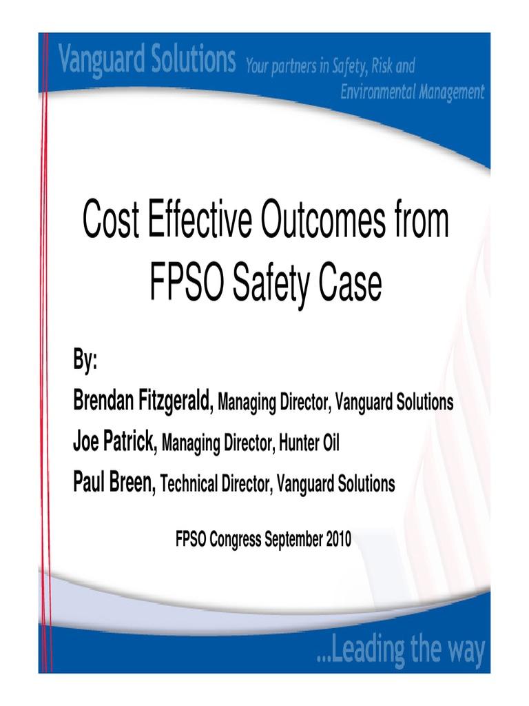 FPSO Safety Case | Safety | Risk