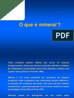 Aula Mineralogia 1 Conceitos Aula 1