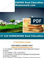 IT 210 HOMEWORK Real Education - It210homework.com