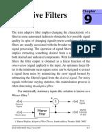 Adaptive Filter Notes