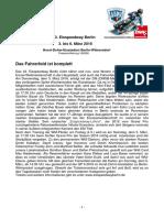 Eisspeedway Berlin 2016, Pressemitteilung 160226
