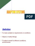 Adaptive Systems1