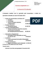 Exercices Prorata de Déduction Régularisations de La Taxe Sur La Valeur Ajoutée