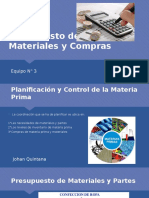 Presupuesto de Materiales y Compras