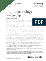 Digital Technology Leadership