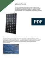 Paneles solares despiden de Nevada