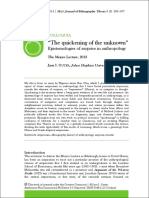 The Quickining of the Unknown - Epistemologies of Surprise in Anthropology