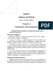 Obligations and Contracts by De Leon