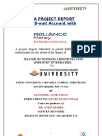 Project Reliance Demat Accounts SAtyendra