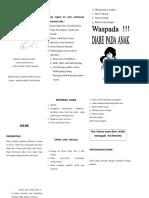 Leaflet Penanganan dan Pencegahan Diare
