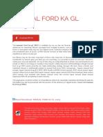Manual Ford Ka Gl 2003
