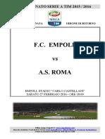 Empoli Roma 27giornataseriea