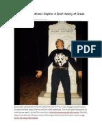 A Brief History of Greek Black Metal