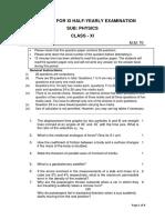 Physics Sample paper