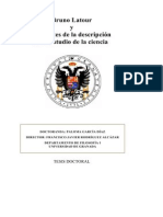 García Díaz - Bruno Latour y los límites de la descripción en el estudio de la ciencia