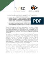 Comunicado Espacio OSC y FLEPS Manifestación Veracruz