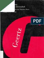 Geertz - Los usos de la diversidad