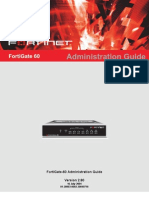 FortiGate-60 Administration Guide