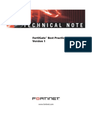 FortiGate Best Practices | Virtual Private Network