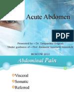 Acute Abdomen and Peptic Ulcer