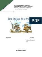 Analisis de La Novela Don Quijote de La Mancha