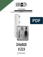 Manual Minolta DiM E223 OM