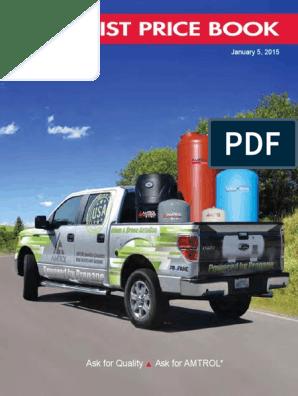 Price Book | Water Heating | Cargo