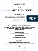 1819 Narrative of a Journey Into Persia by Von Kotzebue s