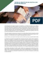 Semana 5 - 4 Como Se Estima El Impacto de Una Política Con La Evaluación de Impacto