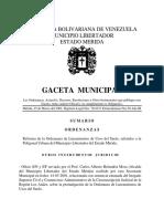 n 58 Gaceta Municipal Extraordinaria Reforma de La Ordenanza de Uso de Suelo 2002
