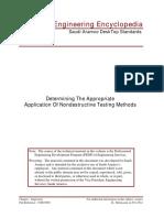 Determine Appropriate NDT Method