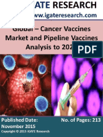 Global Cancer Vaccines Market and Pipeline Vaccines Analysis to 2020
