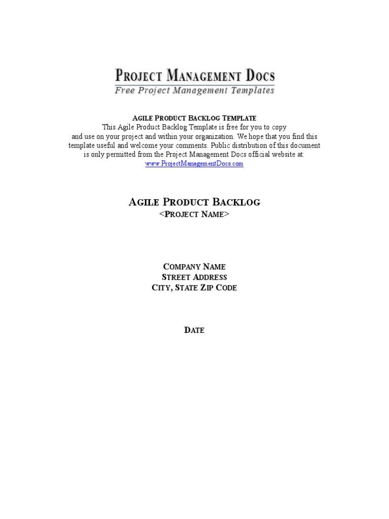 01 Agile Product Backlog Scrum Software Development Accountability