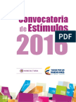Convocatoria de Estímulos 2016
