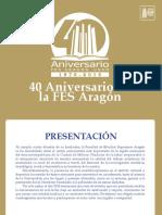 Cronograma Actividades 40 Aniversario FES Aragon feb-may 2016