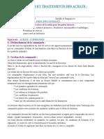 Procédures & Traitements Des Achats
