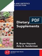 Dietary Supplements, B. Brian Haycock