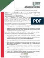 Carta Compromiso Para Escuelas y Servicios Educativos Pec Xv