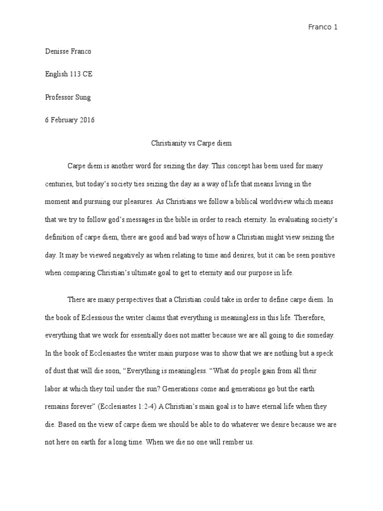 christianity vs carpe diem | Paul The Apostle | Jesus