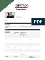 CV- Emma Hunter