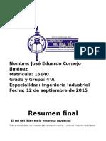 Resumen Final Liderazgo - Liderazgo y Direccion