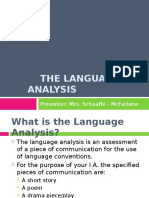 CAPE Comm Studies Language Analysis
