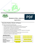 director of finance application  2016-2017