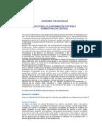Razones y Proporciones Finanieras
