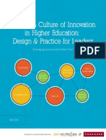 Building a Culture of Innovation in Higher Education Design & Practice for Leaders Emerging Lessons and a New Tool {PRG}